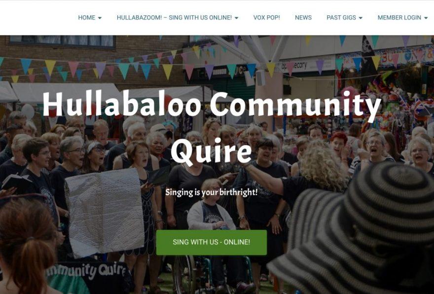 Hullabaloo Website Home Page